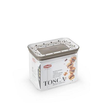 קופסת אחסון למטבח 1.2 ליטר Tosaca חום