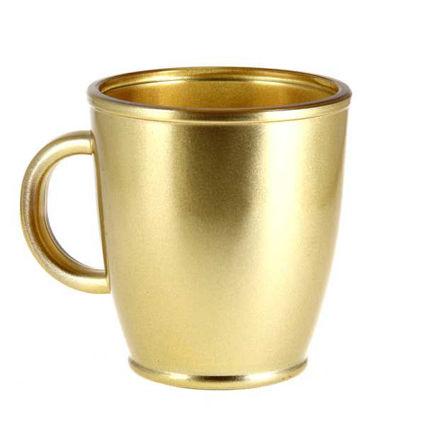 """מג קפה 380 מ""""ל מוזהב"""