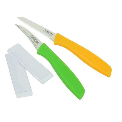 סט 2 סכיני קילוף עם כיסוי