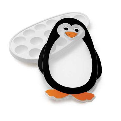 תבנית לקוביות קרח לילדים עם מכסה בצורת פינגווין