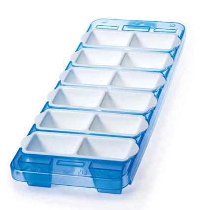 תבנית מתפרקת ל- 12 לקוביות קרח מלבניות  כחול