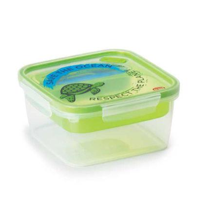 קופסת אוכל מחולקת 1.4 ליטר מרובע עם דוגמה של צב