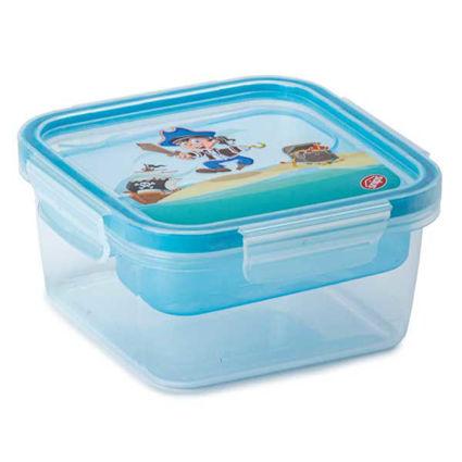 קופסת אוכל מחולקת לילדים 0.8 ליטר מרובע פיראט SnipLock