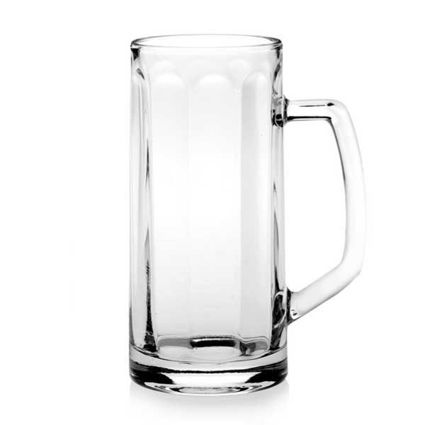 """כוס בירה 500 מ""""ל עם ידית דגם BERNA"""