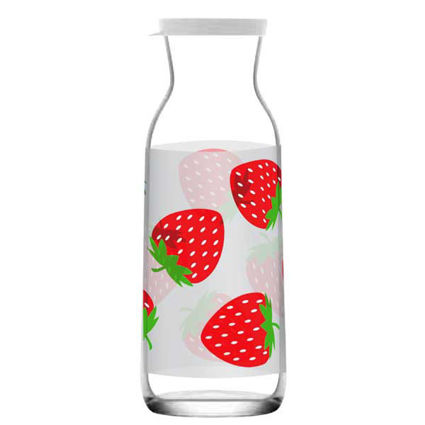 """קנקן מים 1200 מ""""ל עם עיטור תותים"""
