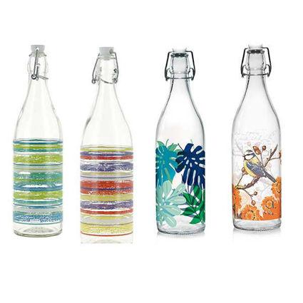 בקבוק מים 1 ליטר במגוון דוגמאות שונות