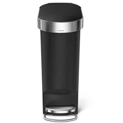 פח אשפה 40 ליטר צר שחור