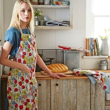 סינר מטבח בעיצוב פרחי אביב אולסטר