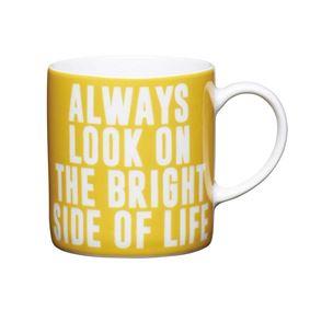 """ספל אספרסו בעיצוב """"Always Look"""" צהוב קיטשנקראפט"""