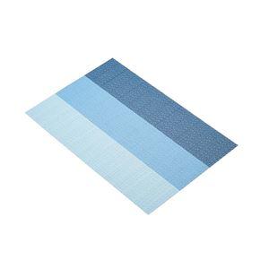 פלייסמט ארוג בדוגמת פסים כחולים קיטשנקראפט