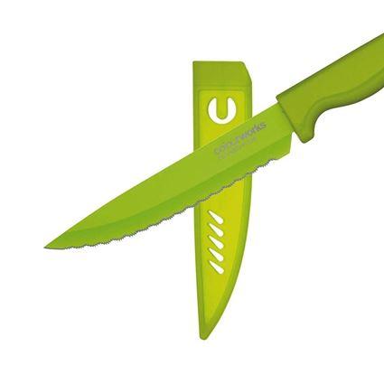 סכין מטבח רב שימושית משוננת בצבע ירוק קולורוורקס