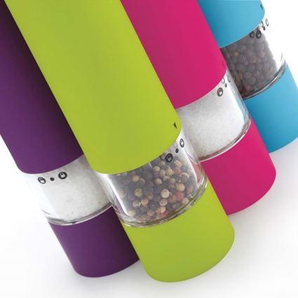מטחנה חשמלית לתבלינים במגוון צבעים קולורוורקס