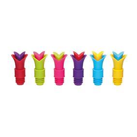 פקק סיליקון לבקבוק במגוון צבעים קולורוורקס