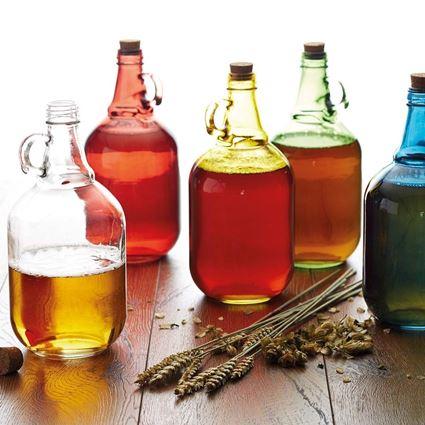 בקבוק זכוכית מסורתי 1.9 ליטר במגוון צבעים קיטשנקראפט