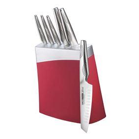 בלוק סכינים אדום ארקוסטיל - מאיר אדוני