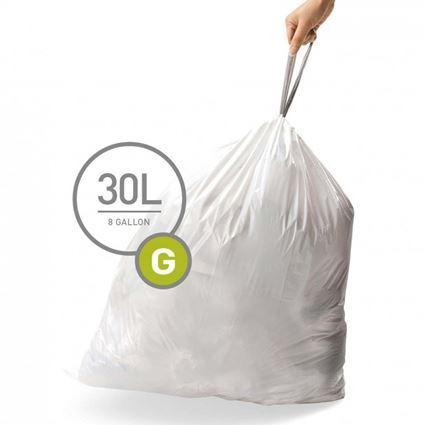 שקיות לפח 30 ליטר (20 יחידות) סימפלהיומן - Simplehuman