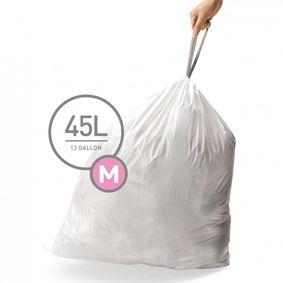 שקיות לפח 45 ליטר (60 יחידות) סימפלהיומן - Simplehuman