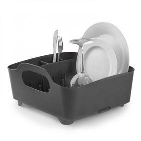 תמונה של מתקן לייבוש כלים קומפקטי מעוצב טאב אפור אומברה - Umbra