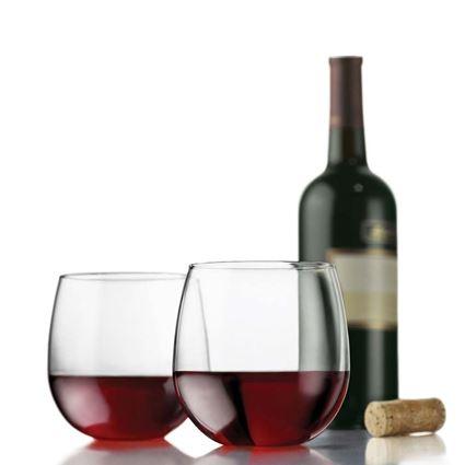 כוסות יין אדום בלון ללא רגל מדגם וינה מבית ליבי - Liebbey מלאות ביין