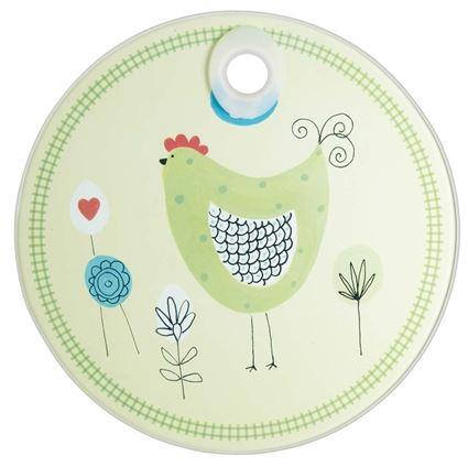 תמונה של משטח עבודה עגול מזכוכית בעיצוב תרנגול קיטשנקראפט - Kitchen Craft