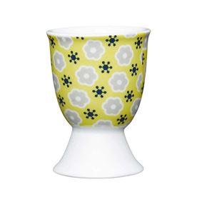 תמונה של ביציה בעיצוב פרחוני על רקע צהוב קיטשנקראפט - Kitchen Craft