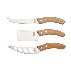 תמונה של סט 3 סכיני גבינה  - Masterclass
