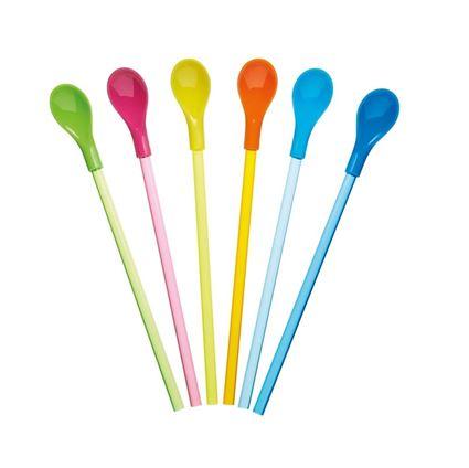 תמונה של קש - כפית צבעוני, סט של 6 יחידות,  קיטשנקראפט - Kitchen Craft
