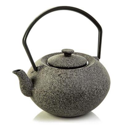 """תמונה של קומקום תה יפני אפור מברזל לחליטות תה בנפח 350 מ""""ל, לספל תה אחד, ארקוסטיל - Arcosteel"""
