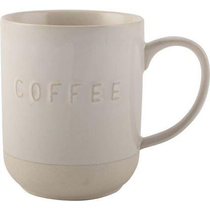"""מג קפה גדול עם המילה """" קפה """" מוטבעת"""