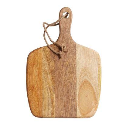 לוח עץ מאורך מעץ מנגו להכנת מזון ולהגשה