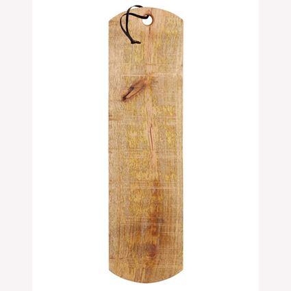 לוח עץ מנגו לחיתוך והגשת מזון