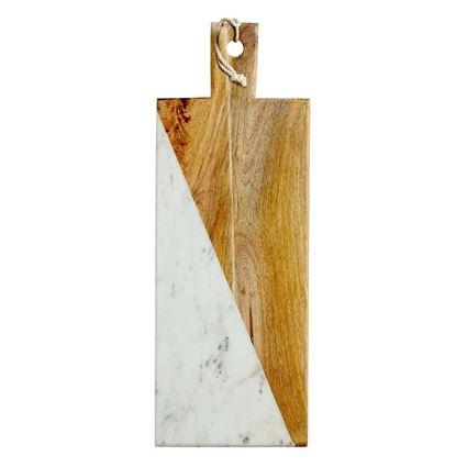 לוח עץ מנגו משולב עם שיש