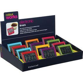 טיימר אלקטרוני 100 דקות במגוון צבעים קולורוורקס