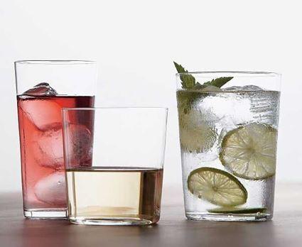 כוס זכוכית ארוכה לקינוחים ושתייה קרה בעלת דופן דקה מדגם סידרה
