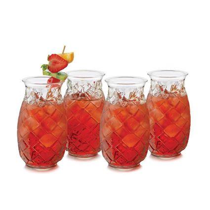 כוס שתייה למיצים וקוקטיילים בצורת אננס ליבי גלאס