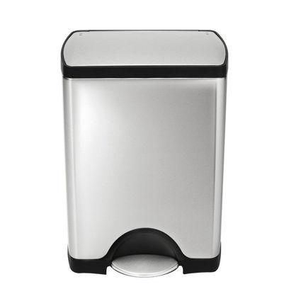 פח דוושה מלבני 50 ליטר בגימור כרום - Simplehuman