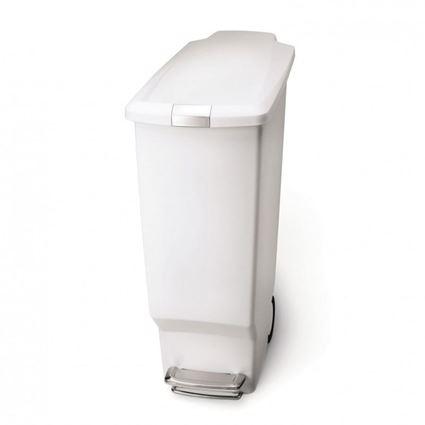 פח אשפה 40 ליטר בצבע לבן - Simplehuman