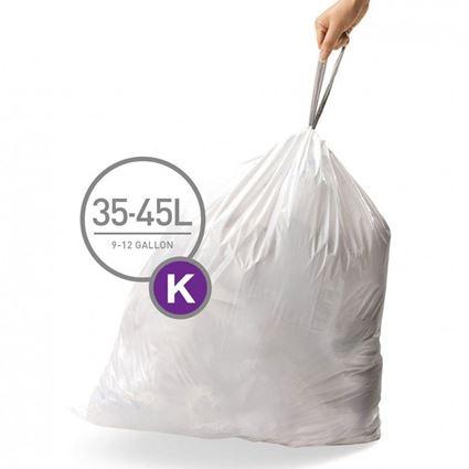 שקיות לפחים בנפח 45 - 30 ליטר, מידה J, סימפלהיומן - Simplehuman