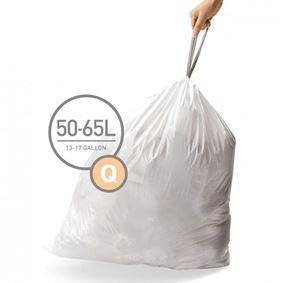 שקיות לפחים בנפח 50-65 ליטר, מידה Q, סימפלהיומן - Simplehuman