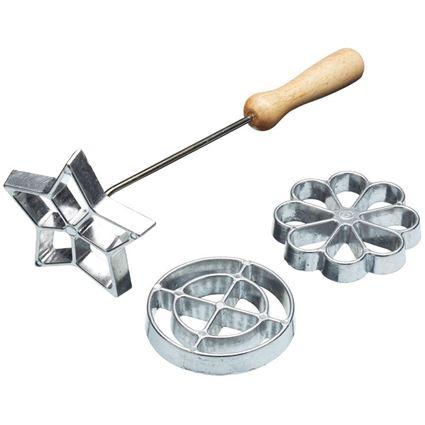 מכשיר להכנת עוגיות רוזט - סט 3 חותכנים  עוגיות שוודיות