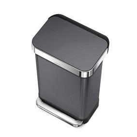 פח 45 ליטר נירוסטה שחור סימפליומן