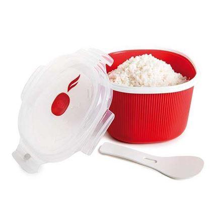 סיר אורז לבישול במיקרו בנפח 2.7 ליטר עם אורז