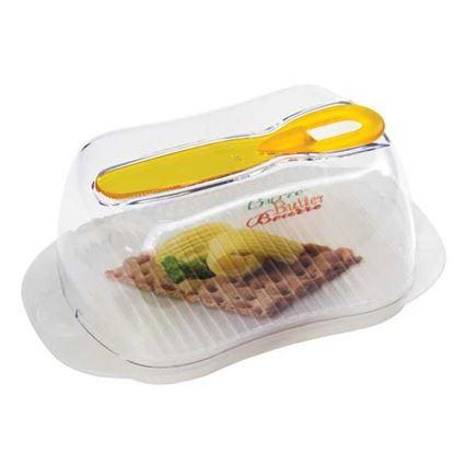כלי לאחסון חמאה גדול כולל סכין מריחה
