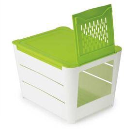 קופסה לאחסון ושמירת טריות תפוחי אדמה, גזר ובצל