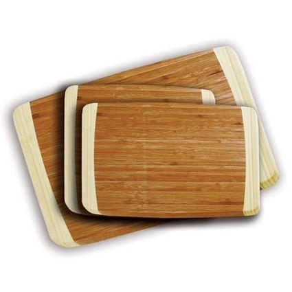 סט 3 קרשי חיתוך עץ במבוק