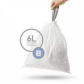 שקיות לפח 6 ליטר - שליפה קלה