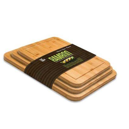קרשי חיתוך (סט 3 ) עץ במבוק Food Appeal