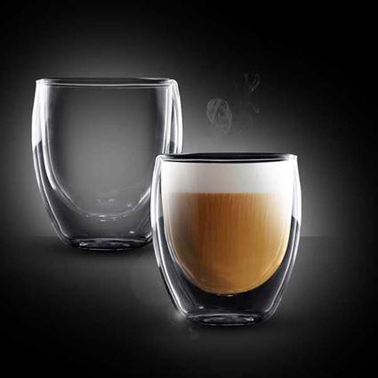 זוג כוסות קפה קפוצ'ינו תרמיות קולומביה עם דופן כפולה פוד אפיל
