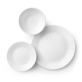 צלחות קורנינג לבן בתפזורת