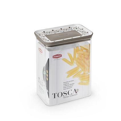 קופסת אחסון למטבח 2.2 ליטר Tosaca חום